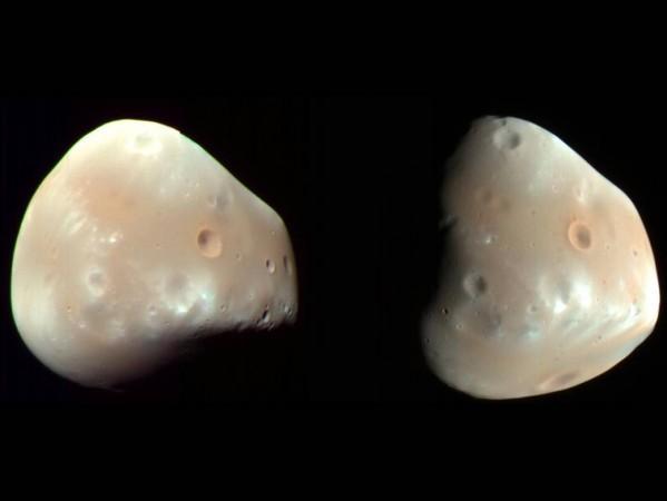 Mars' Moon Deimos captured by NASA in 2009.