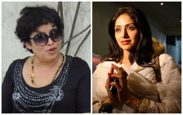 Taslima Nasreen and Sridevi
