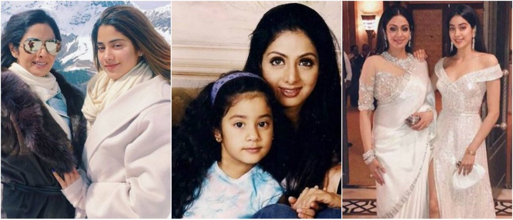 Sridevi with daughter Janhvi Kapoor