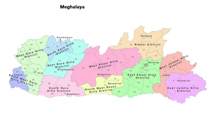 Meghalaya map as seen in Election Commission of India site