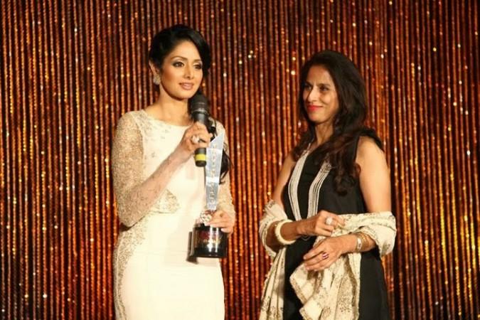 Shobhaa De and Sridevi