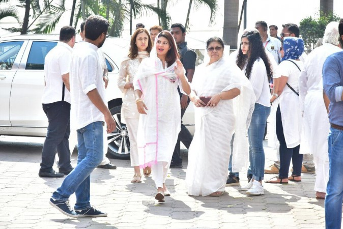 Jacqueline Fernandez arrives at Sridevi's condolences meet at the Celebration Sports Club in Mumbai
