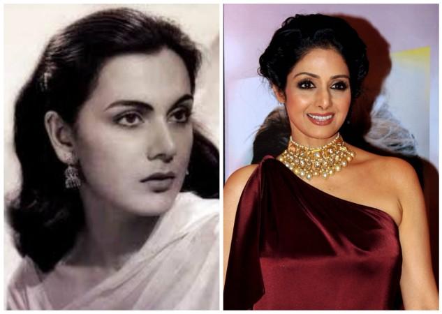 Priya Rajvansh (left) and Sridevi have some shocking similarities