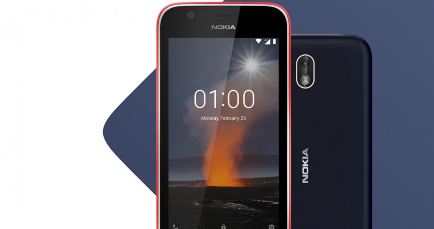 Nokia 1 handset showing front and back view