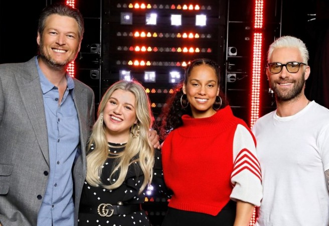 The Voice coaches -- Blake Shelton, Kelly Clarkson, Alicia Keys and Adam Levine