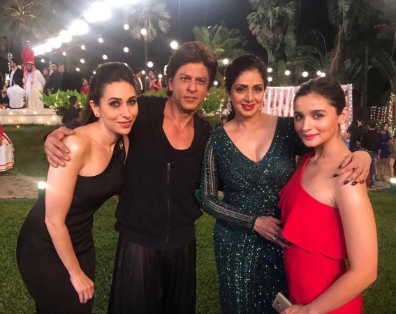Sridevi, Karisma Kapoor, Alia bhatt, Shah Rukh khan