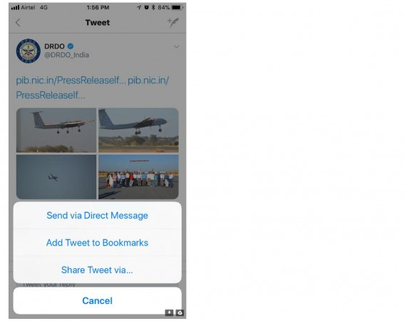 Twitter, new sharing feature, Bookmark