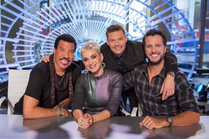 Lionel Richie, Katy Perry, Ryan Seacrest and Luke Bryan seen in American Idol page