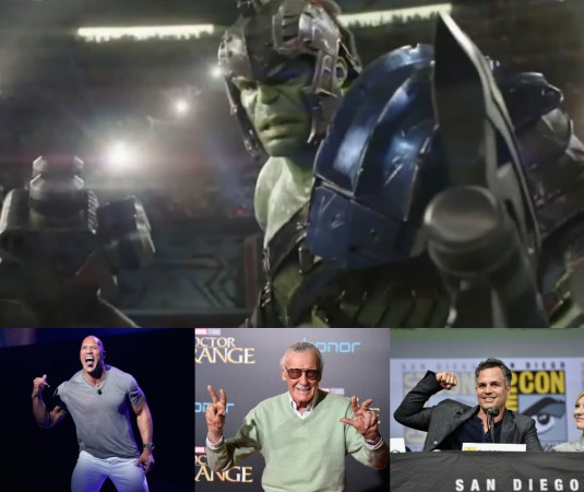 Hulk, Dwayne Johnson, Stan Lee, Mark Ruffalo
