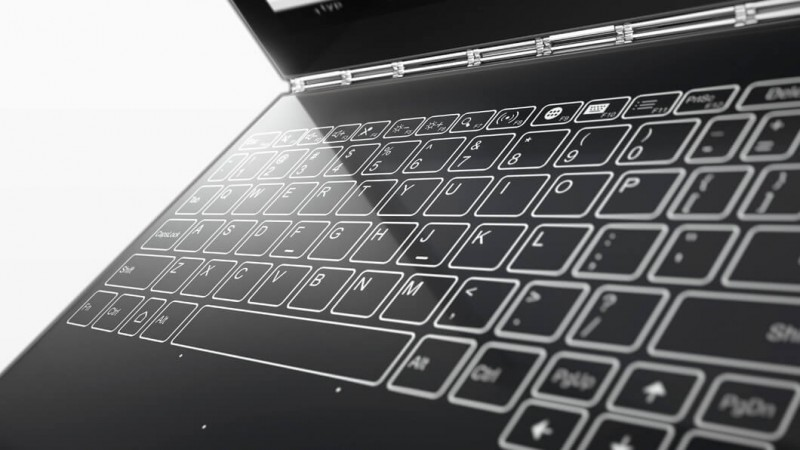 Lenovo Yoga Book touchscreen keyboard