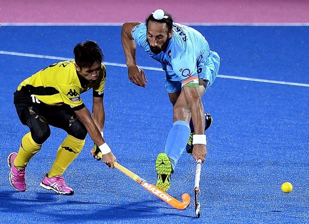 India's Sardar Singh in action against Malaysia during the Sultan Azlan Shah Cup 2016 tournament