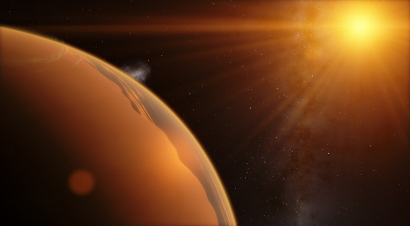 The exoplanet, called WASP-39b, is located more than 20 times closer to its star than the Earth is to the Sun