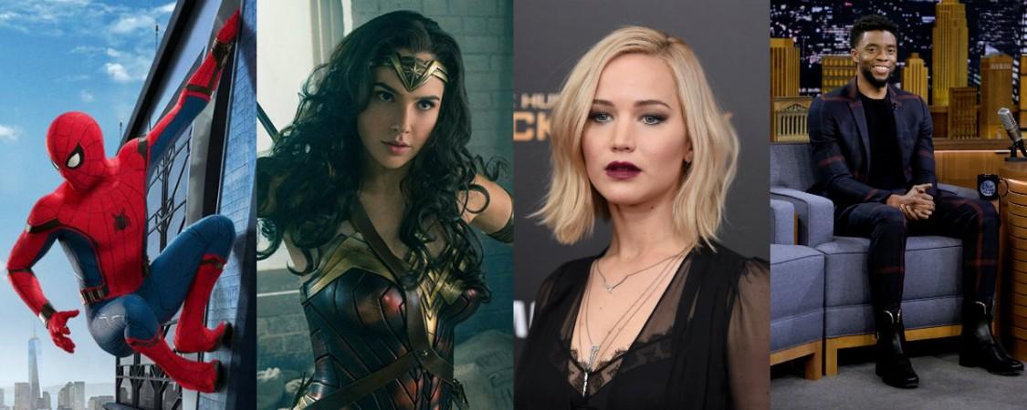 Tom Holland, Gal Gadot, Jennifer Lawrence, Chadwick Boseman, Oscars 2018