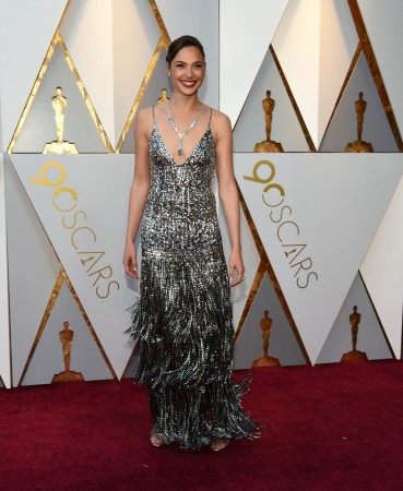 Gal Gadot arrives for the 90th Annual Academy Awards on March 4, 2018, in Hollywood, California.