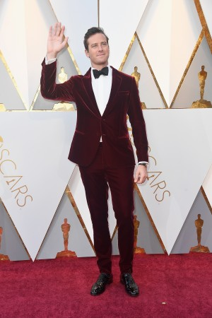 Armie Hammer attends the 90th Annual Academy Awards at Hollywood & Highland Center on March 4, 2018 in Hollywood, California.