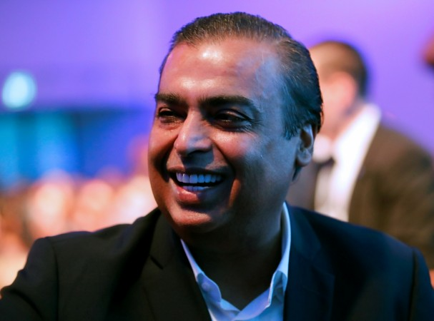 Mukesh Ambani, Chairman and Managing Director of Reliance Industries, smiles as he attends the World Economic Forum (WEF) annual meeting in Davos, Switzerland, January 23, 2018.