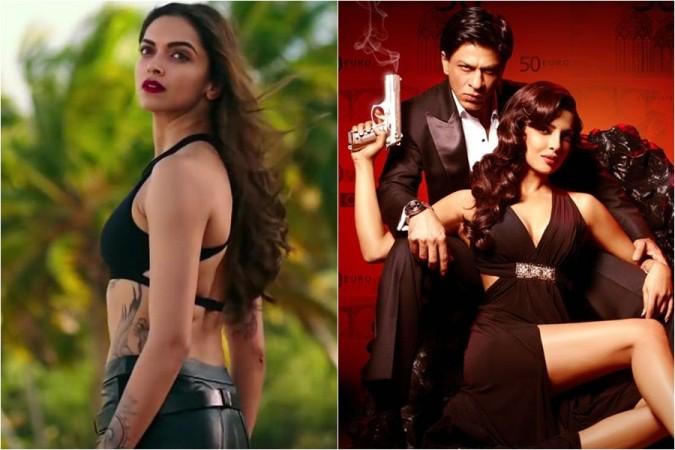 Deepika Padukone, Shah Rukh Khan, Priyanka Chopra
