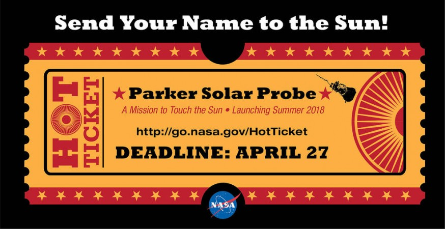 People can send their names to the Sun, via a microchip installed on NASA's upcoming Parker Solar Probe mission