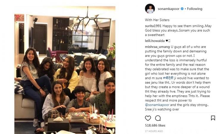 Janhvi Kapoor celebrates her 21st birthday with family