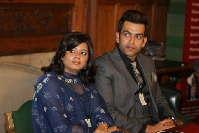 Prithviraj with his wife Supriya Menon