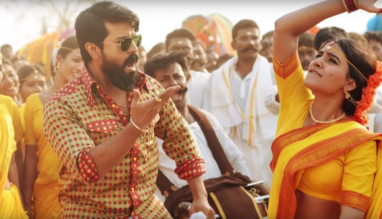Ram Charan and Samantha in Rangasthalam song Rangamma Mangamma