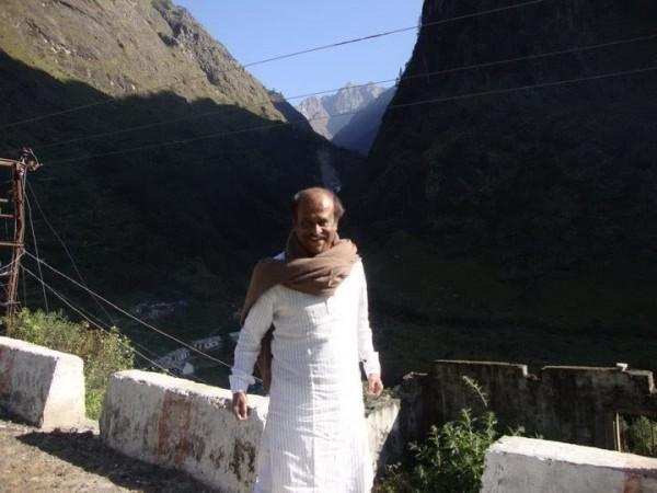 Rajinikanth on the foothills of Himalayas