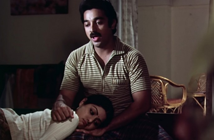 Sridevi and Kamal Haasan in Sadmaa