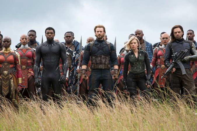Avengers Infinity War, Captain America, Black Panther, Black Widow, Bucky