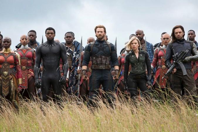Avengers Infinity War, Captain America, Black Panther, Black Widow, Bucky