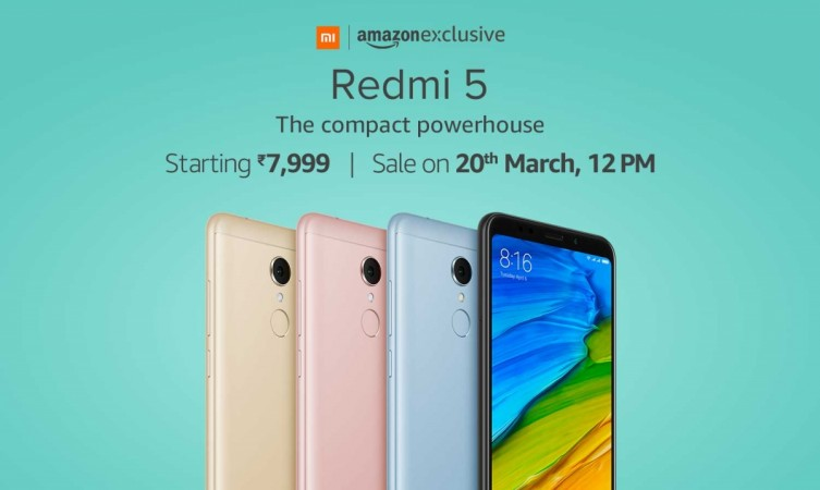 Xiaomi Redmi 5 on Amazon India