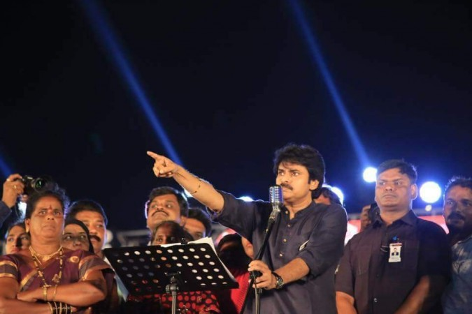 Pawan Kalyan addressing Jana Sena formation day