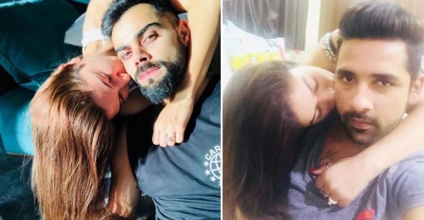 Bigg Boss 11 contestants Puneesh Sharma and Bandgi Kalra gets trolled for copying Anushka -Virat kiss photo
