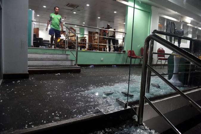 Bangladesh dressing room at R Premadasa Stadium