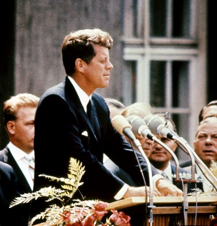 John Fitzgerald Kennedy (1917-63), pictured in the 1960s in the USA.