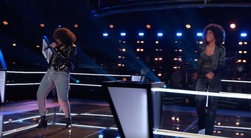 Kelsea Johnson and Jordyn Simone perform Don't Let Go (Love) by En Vogue on The Voice season 14