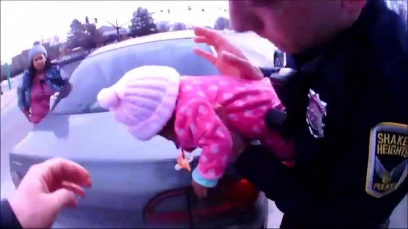 Bodycam shows Ohio police officers save choking babys life