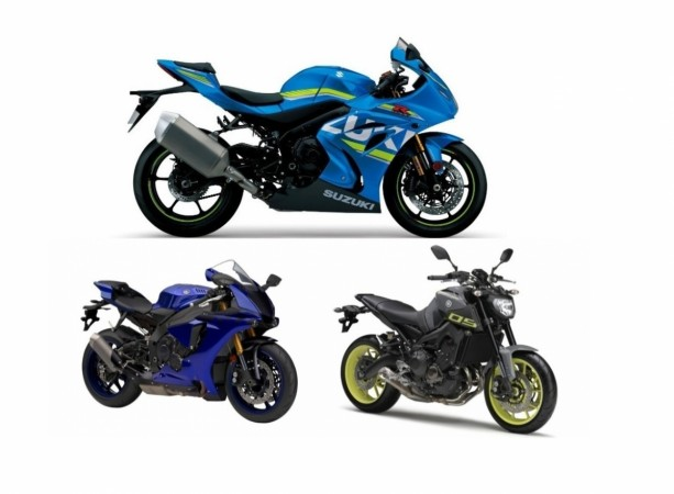 Imported bikes of Yamaha and Suzuki