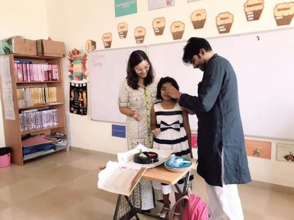 Power Star Pawan Kalyan with Renu Desai and his daughter Aadya