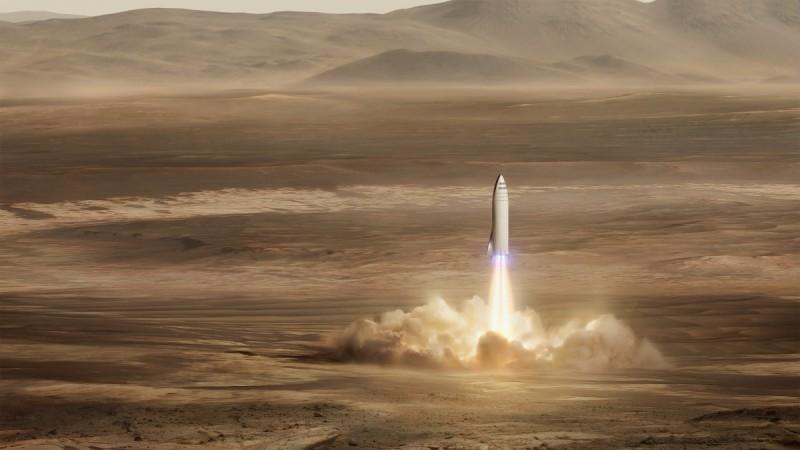 BFR landing on Mars