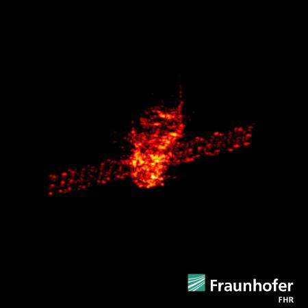 Tiangong-1 radar images