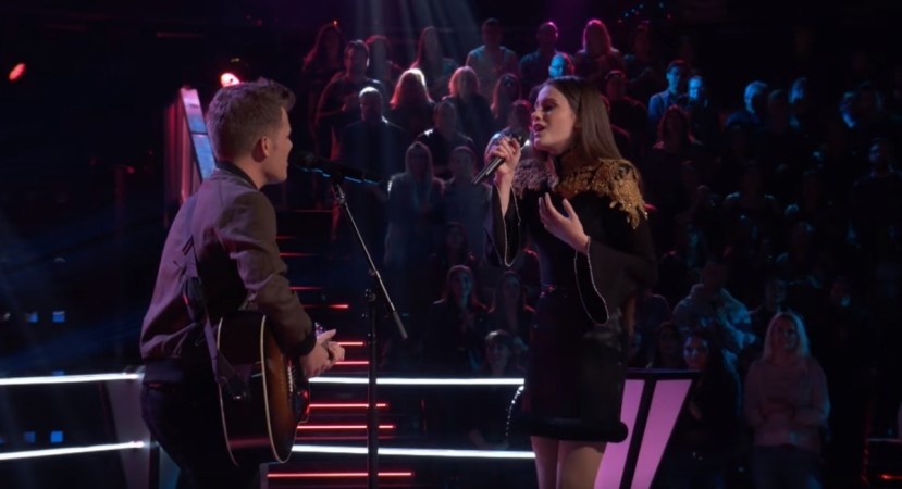 Britton Buchanan and Jaclyn Lovey of Team Alicia perform Ed Sheeran's Thinking Out Loud on The Voice season 14 battle round