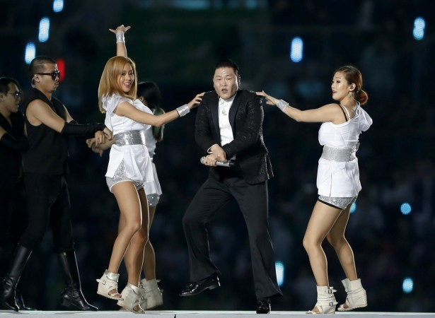 South Korean singer Psy performs during the opening ceremony of the 17th Asian Games in Incheon September 19, 2014.