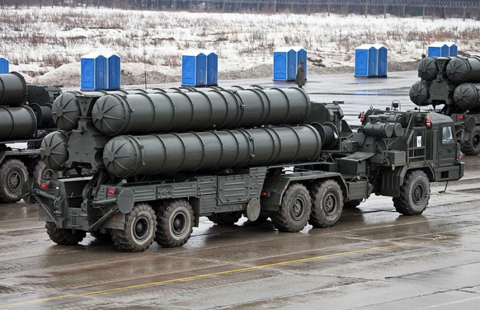 S-400 Triumf air defence system transporter erector launcher