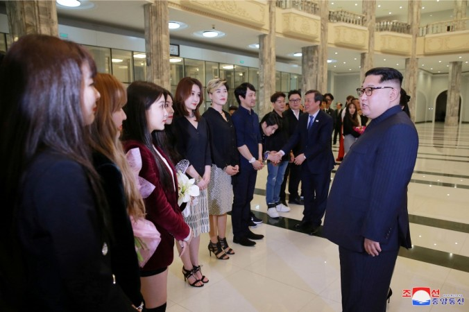 Kim Jong-un attends performance by South Korean pop stars in Pyongyang