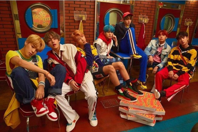 Members of K-pop boy band BTS or Bangtan Sonyeondan