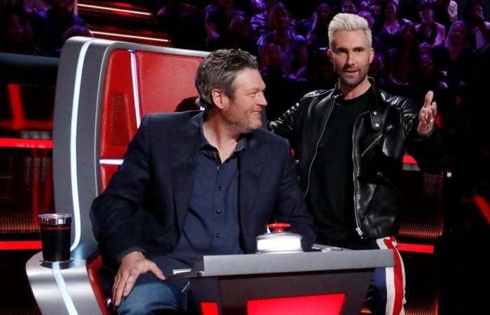 Blake Shelton and Adam Levine on The Voice season 14