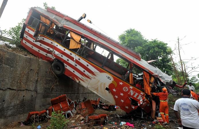Road accident, bus