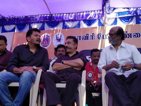 Shankar, Kamal Haasan and Rajinikanth