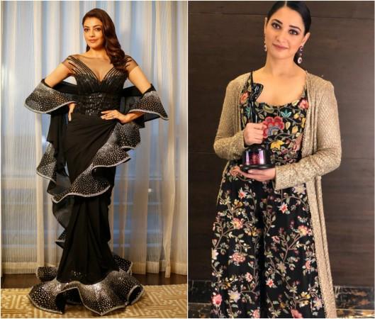 Kajal Aggarwal and Tamannaah Bhatia at Zee Telugu Apsara Awards 2018