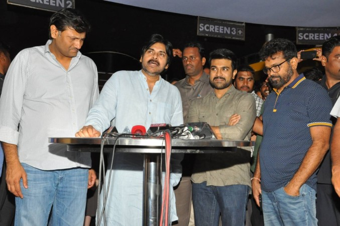 Pawan Kalyan at Rangasthalam special screening